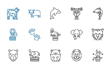 mammal icons set