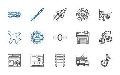 engine icons set