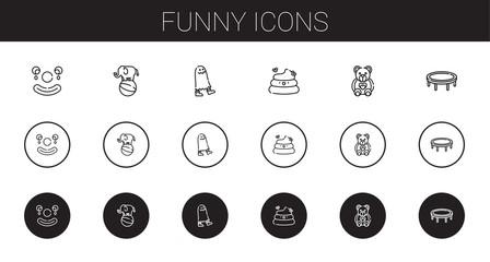 funny icons set