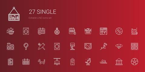 single icons set