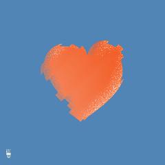 Happy Valentines Day illustration. Broken heart isolated shape. Eps10 Vector illustration
