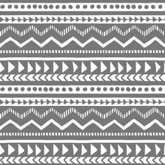 Vector seamless gray and white illustration. Ethnic hand drawn pattern for wallpaper,fabric, textile