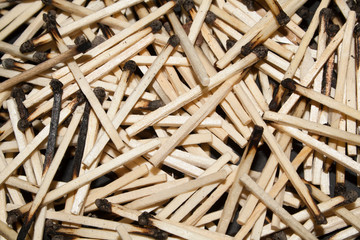 matches isolated on black background