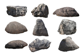 rock isolated on white background. Wall mural