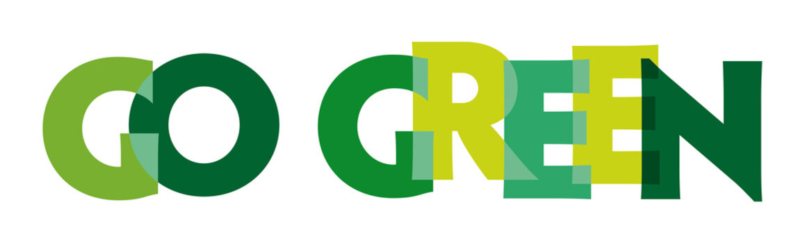 go green - vector of stylized greenly font