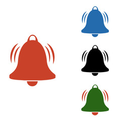 Notification icon vector, material design, social media element, user interface sign. A new message. Bells are installed