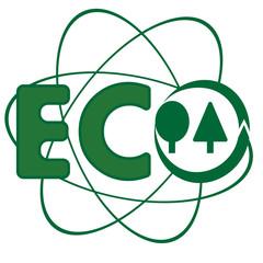 Ecology logo. Symbol of conservation of nature.