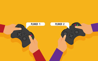 Vector flat video game illustration