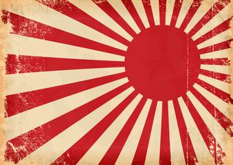 Grunge vector japan flag