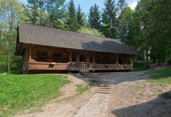 Ukrainian authentic village house. Lviv