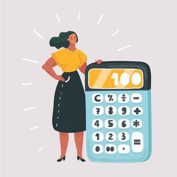 Calculator. Financial calculations, accountant.