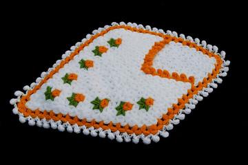hand-knitted bath fiber, bathroom fibers with wonderful patterns,