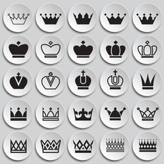 Crown set on plates background for graphic and web design, Modern simple vector sign. Internet concept. Trendy symbol for website design web button or mobile app
