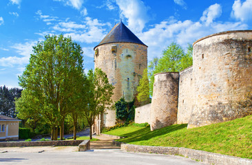 Prince of Wales tower in a small town Thouars