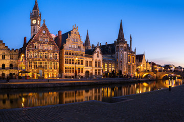 Panoramic view of Grasle, Ghent, Belgium.