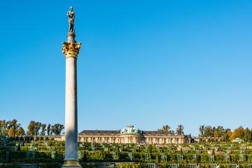 Schloß und Parkanlagen von Sans Souci dem Lustschloß von Friedrich dem Großen