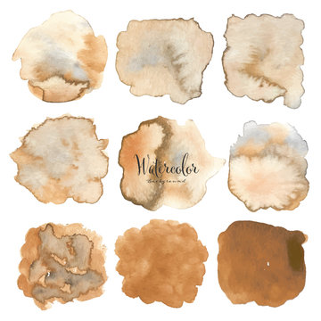 Abstract watercolor background. Watercolor element for card. Vector illustration.