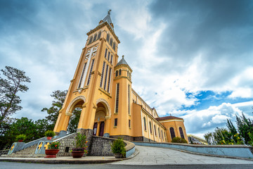 Chicken church, Da Lat Cathedral, Cathedral of the chicken in Da Lat city, Lam Dong province, Vietnam..