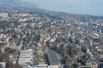 Lausanne vue aérienne