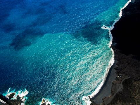 Big Island's Black Sand Beach, Hawai'i