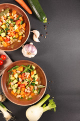 minestrone, vegetable soup