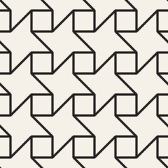 Vector seamless lattice pattern. Modern thin lines abstract texture. Repeating geometric tiles from square and star shapes.