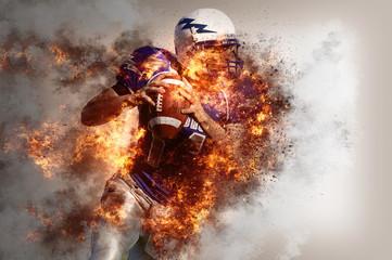American Football quarterback