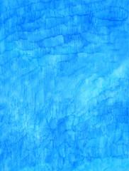 水彩で描かれた青色のグラフィック素材