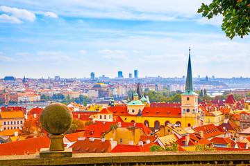 Wall Mural - Panoramic vew of Prague