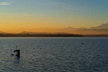 Lake Varese. Views from Schiranna