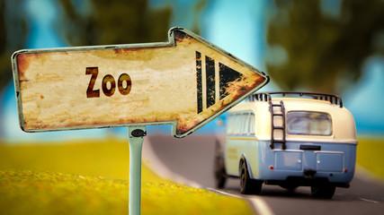 Schild 348 - Zoo