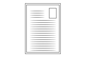 Icono de documento escrito.