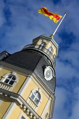Schlossturm mit Badischer Flagge