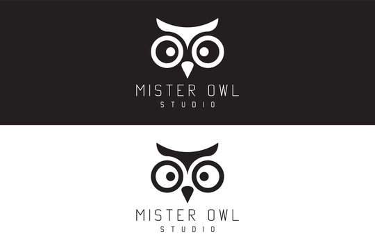 Mister owl studio. Logo Design.