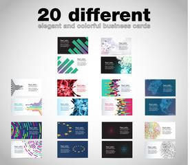 Business card set, vector templates