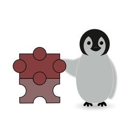 building blocks or toys with penguin