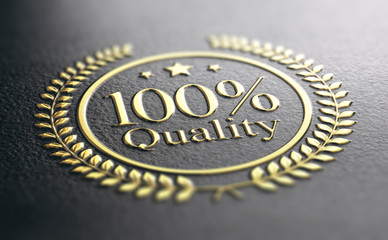High Quality Guarantee Golden Stamp, Guaranteed Satisfaction Concept