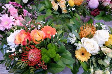 vente de bouquets de fleurs
