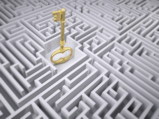 Maze and the golden key