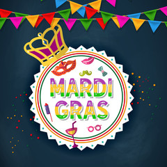 Celebration festive background for Mardi Gras Carnival Festival - Mardi Gras Events and Party