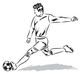 football soccer player illustration