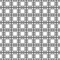 Black and white Seamless Modern Pattern. Art-Deco Geometric Background. Graphic Design. Vector Illustration.