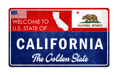 Welcome to California - grunge sign