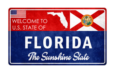 Welcome to Florida - grunge sign