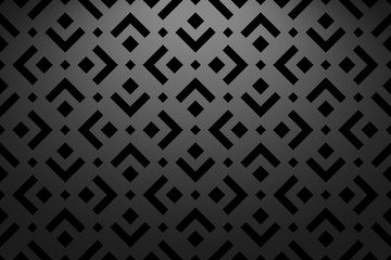 Abstract geometric pattern. A seamless vector background. Black ornament. Graphic modern pattern. Simple lattice graphic design