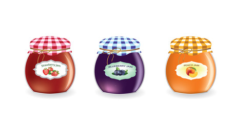 Jam jars set. vector illustration