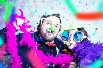 Freunde an Fasching Silvester Karneval