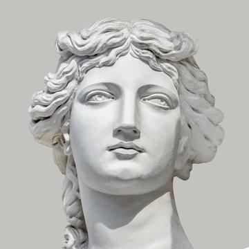 Portrait of young sensual Roman Renaissance Era woman in Vienna, Austria, details, closeup, even background