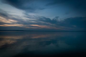 lake Balaton Hungary at night