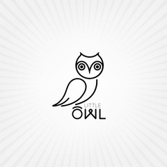 Vector owl icon. Owl logo
